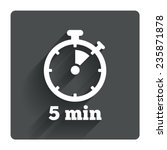 timer sign icon. 5 minutes...