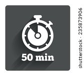 timer sign icon. 50 minutes...