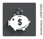 piggy bank sign icon. moneybox...
