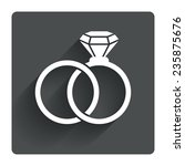 wedding rings sign icon....