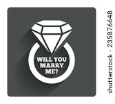 will you marry me ring sign...