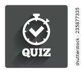 quiz timer sign icon. questions ...