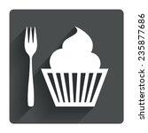 eat sign icon. dessert trident...