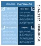 editable swot analysis template ... | Shutterstock .eps vector #235879642