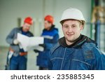 young male engeneer worker at a ...