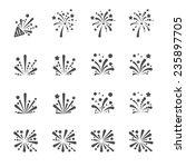 firework icon set  vector eps10. | Shutterstock .eps vector #235897705