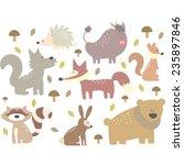 forest animals woodland | Shutterstock .eps vector #235897846
