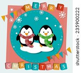 vector merry christmas and...   Shutterstock .eps vector #235900222