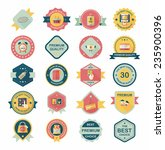shopping badge banner flat... | Shutterstock .eps vector #235900396
