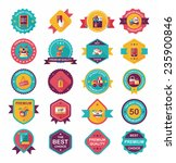 shopping badge banner flat... | Shutterstock .eps vector #235900846