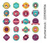 shopping badge banner flat... | Shutterstock .eps vector #235900906