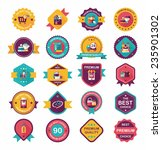 shopping badge banner flat... | Shutterstock .eps vector #235901302