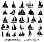 a set of vector silhouettes of... | Shutterstock .eps vector #235904875