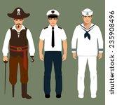 pirate  captain and sailor man...