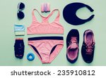 lady fitness style. sports...   Shutterstock . vector #235910812