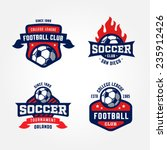 Set Of Soccer Football Badge...
