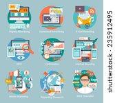 seo internet marketing flat... | Shutterstock .eps vector #235912495