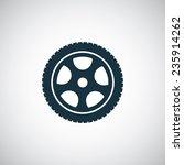 car wheel icon on white... | Shutterstock . vector #235914262