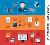 translation interpretation and... | Shutterstock .eps vector #235915342