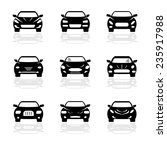 automobile vector icon set | Shutterstock .eps vector #235917988