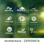 vector logo design set with...   Shutterstock .eps vector #235920676