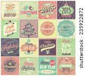 christmas set   labels  emblems ...   Shutterstock .eps vector #235922872