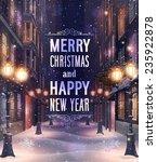 Christmas Card With Night...