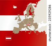 austria info map cover flag... | Shutterstock .eps vector #235929286
