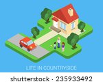 Flat Isometric Style Life In...