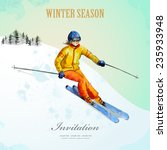 Winter Sport. Fashion Girl...