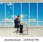 angry businessman screaming... | Shutterstock . vector #235936798