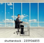successful young businessman... | Shutterstock . vector #235936855