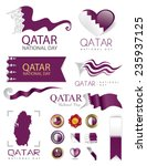 qatar national day artwork ... | Shutterstock .eps vector #235937125