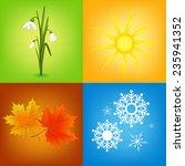 colorful four seasons symbols... | Shutterstock .eps vector #235941352