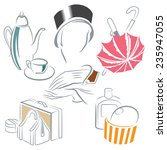 vector set of sketches on the... | Shutterstock .eps vector #235947055