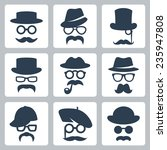 icon set of vector mustaches ...   Shutterstock .eps vector #235947808