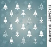 stylized vector snowy christmas ... | Shutterstock .eps vector #235957648