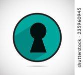 button keyhole vector icon  | Shutterstock .eps vector #235960945