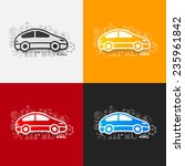 drawing business formulas  car | Shutterstock .eps vector #235961842