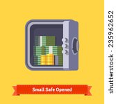 small safe front view. opened... | Shutterstock .eps vector #235962652