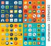 set of veterinary flat icons | Shutterstock .eps vector #235964182
