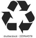 recycle symbol   vector... | Shutterstock .eps vector #235964578