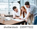 young business people working... | Shutterstock . vector #235977322