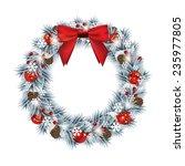 christmas wreath   eps 10 | Shutterstock .eps vector #235977805