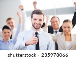feeling confident in his team.... | Shutterstock . vector #235978066