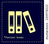 vector illustration of a folder ... | Shutterstock .eps vector #235978222