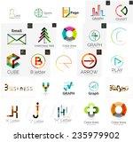 set of branding company logo... | Shutterstock .eps vector #235979902