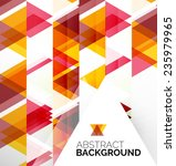 abstract modern flyer  ... | Shutterstock . vector #235979965