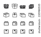 box icon set | Shutterstock .eps vector #235980535