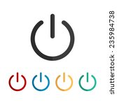 on off switch   vector icon ... | Shutterstock .eps vector #235984738